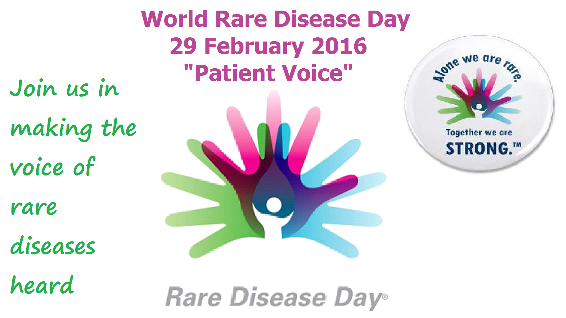Rare Disease Day - Waitara Family Medical Practice