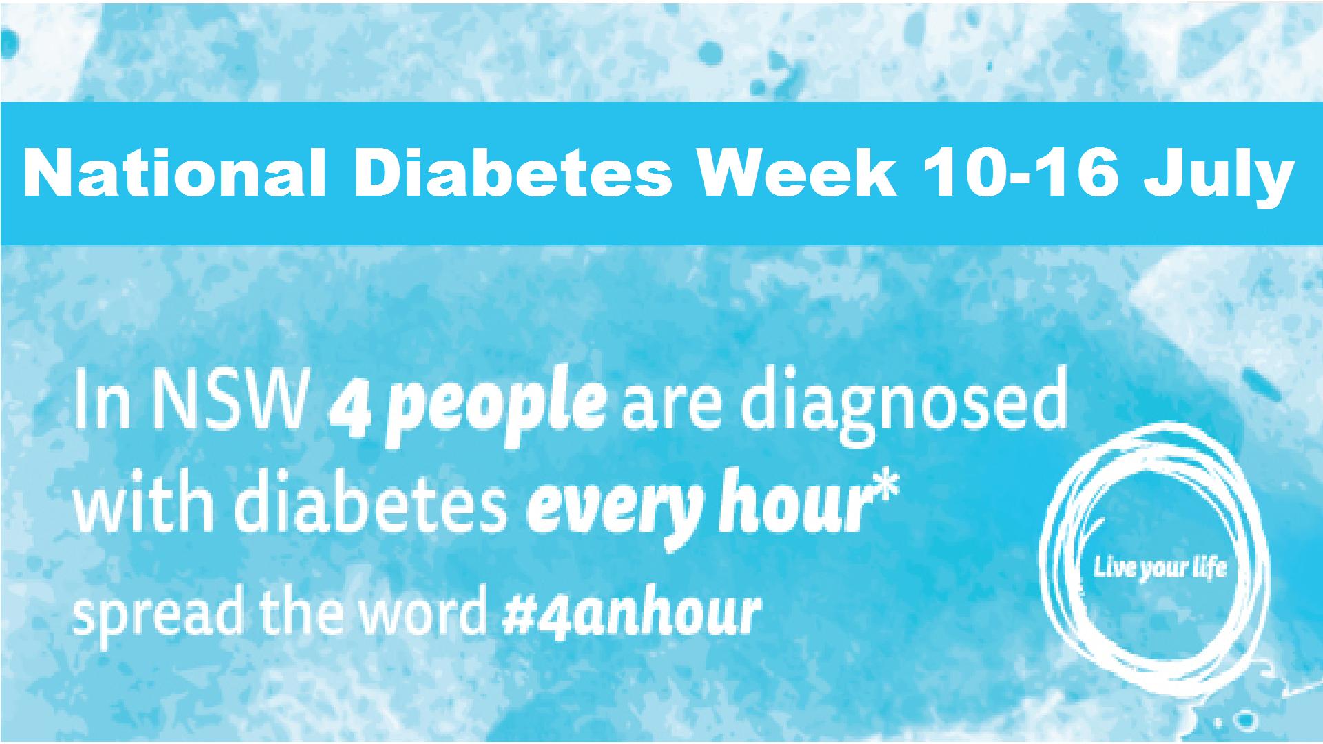 Diabetes Awareness Week 10 16 July Waitara Family